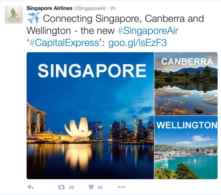 Singapore airlines tweet