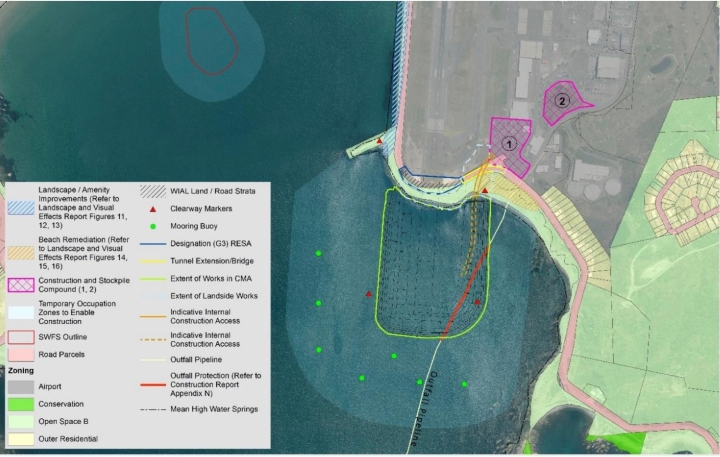 Note that this image shows exclusion zones that are less than the 250-300m ones mentioned in the reports